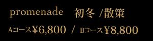 promenade 初冬/散策 ¥6,800/¥8,800