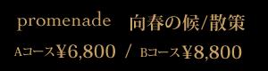 promenade 向春の候/散策 ¥6,800/¥8,800